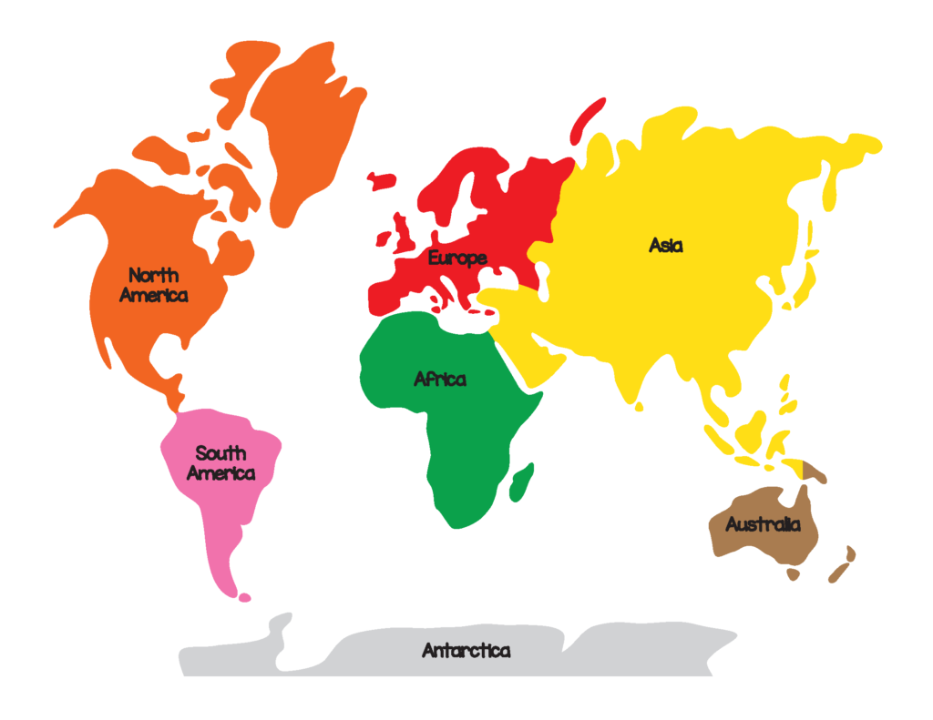 It's just a picture of Agile Map of Continents and Oceans Printable